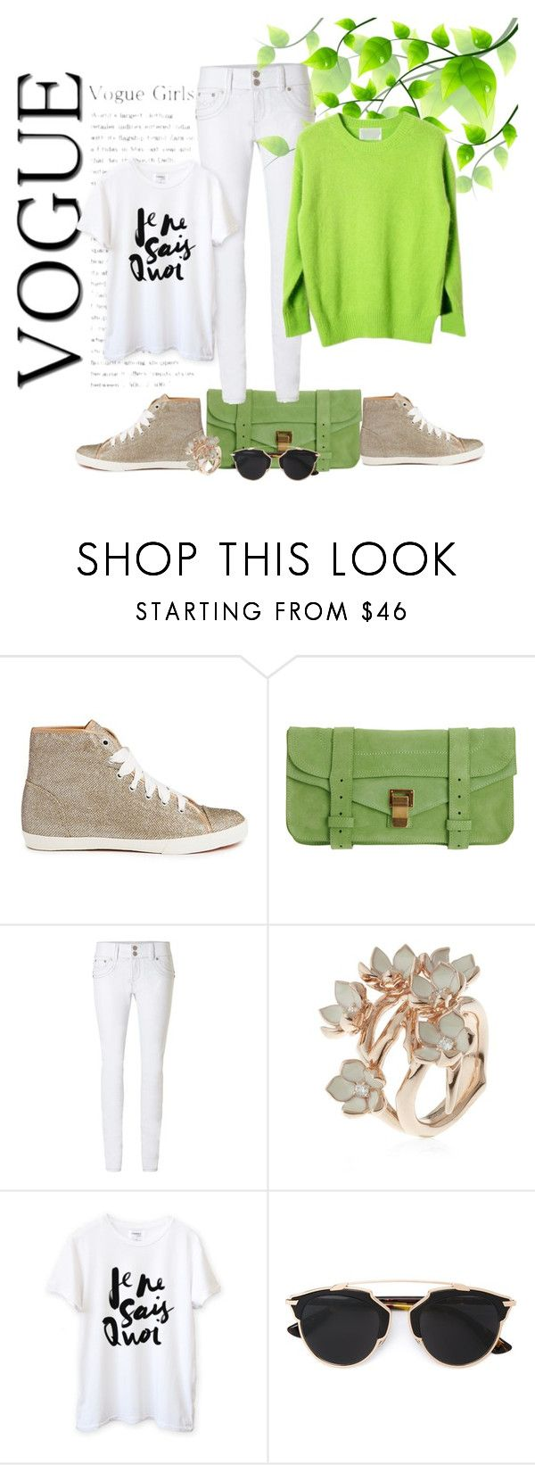 """""""Je ne sais quoi vogue"""" by black-ladybird ❤ liked on Polyvore featuring Carvela, Proenza Schouler, Jane Norman, Shaun Leane and Christian Dior"""