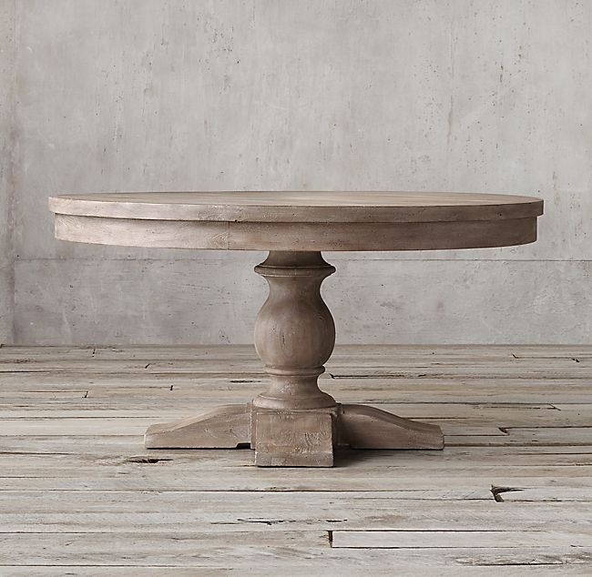 17th C. Priory Round Dining Table ,  #17th #Dining #Priory #rusticlivingroomfurniturerestorationhardware #table
