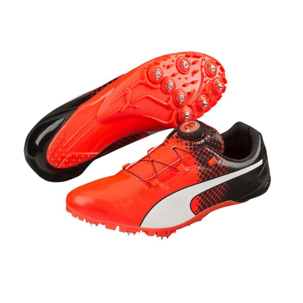PUMA Bolt Evospeed Disc V2 Mens Running Shoes Orange/Black ...