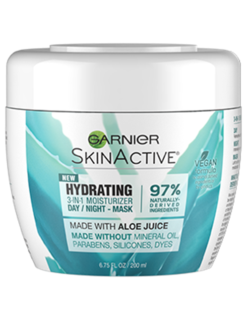 Hydrating 3 In 1 Face Moisturizer With Aloe Garnier Skin Active Aloe Dry Skin Moisturizer For Dry Skin