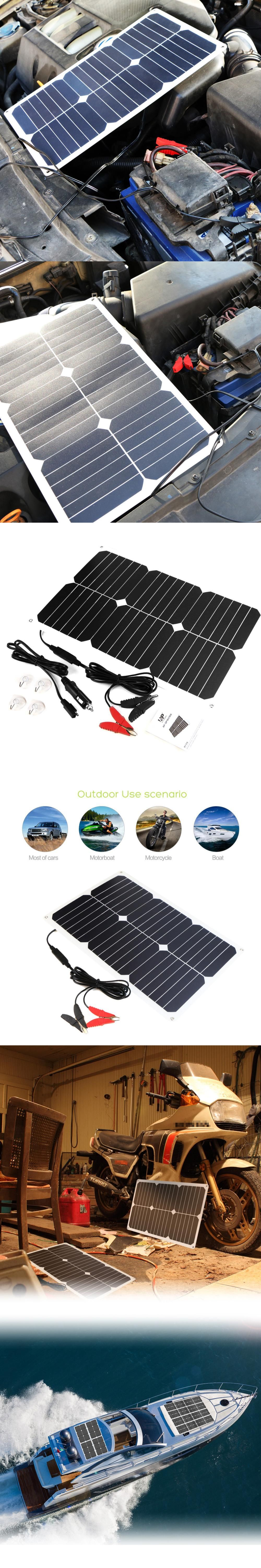 allpowers 18v18w sunpower solar panel charger usb ports waterproof