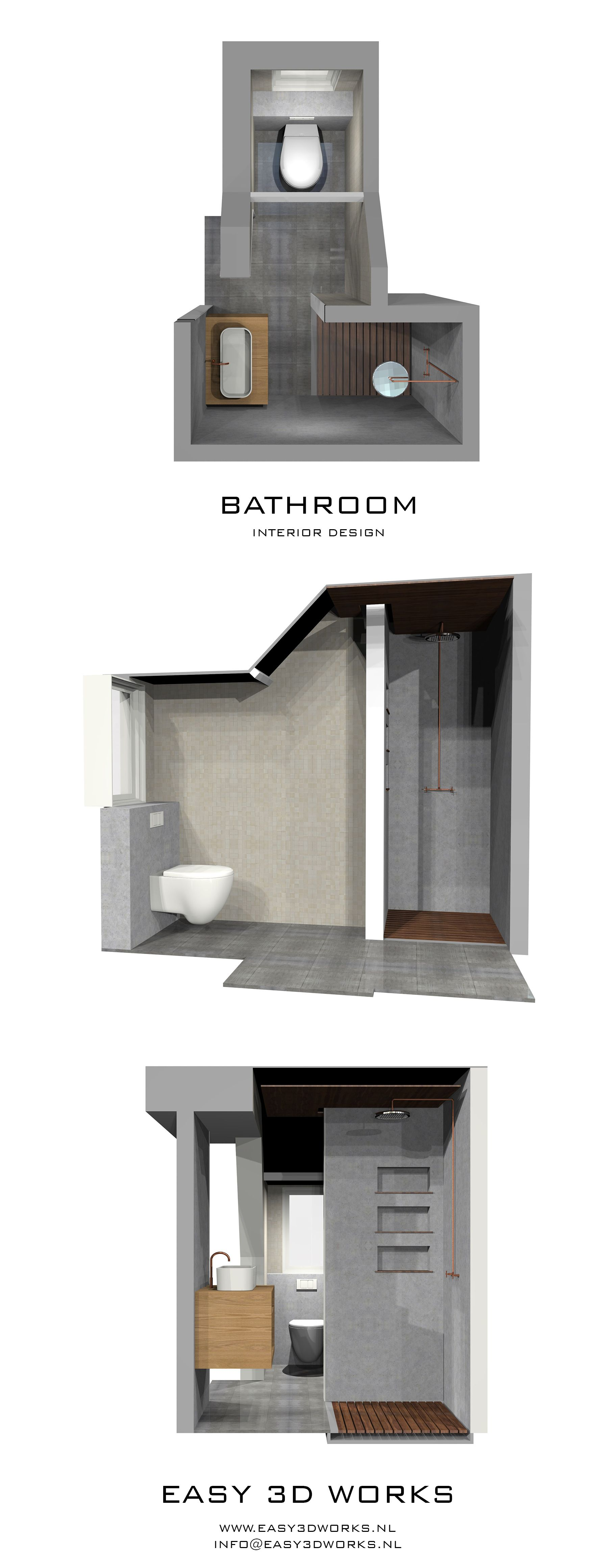 Modern Bathroom 3D Impression Architecture Render Visualization Interior BathroomsExterior DesignModelingHome