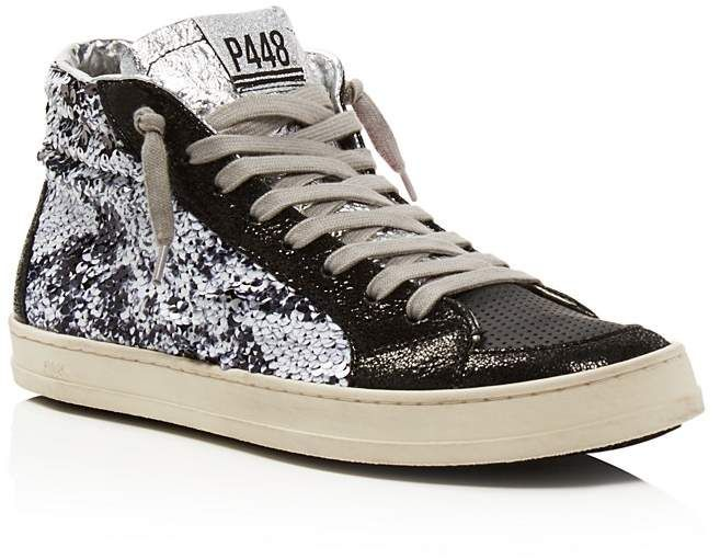 P448 Women's Skate BS Sequined Leather