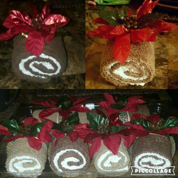swiss roll towel cakes