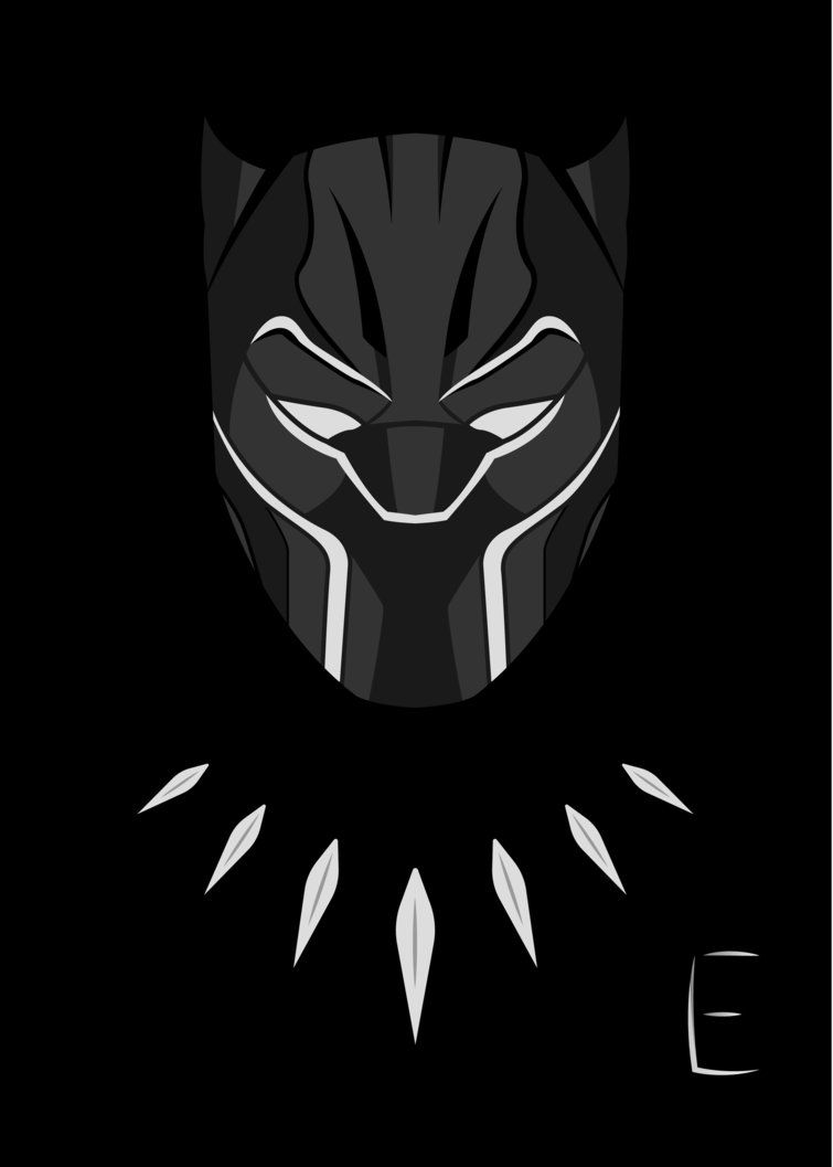 Black Panther Of Wakanda Drawing Custom Stickers