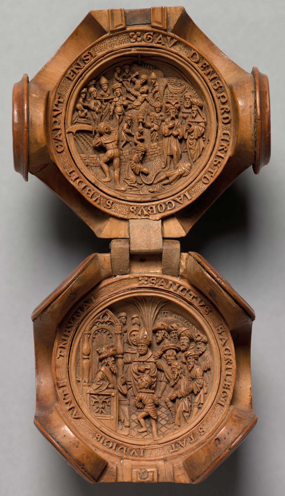 Th century miniature boxwood carvings that fit in the palm of
