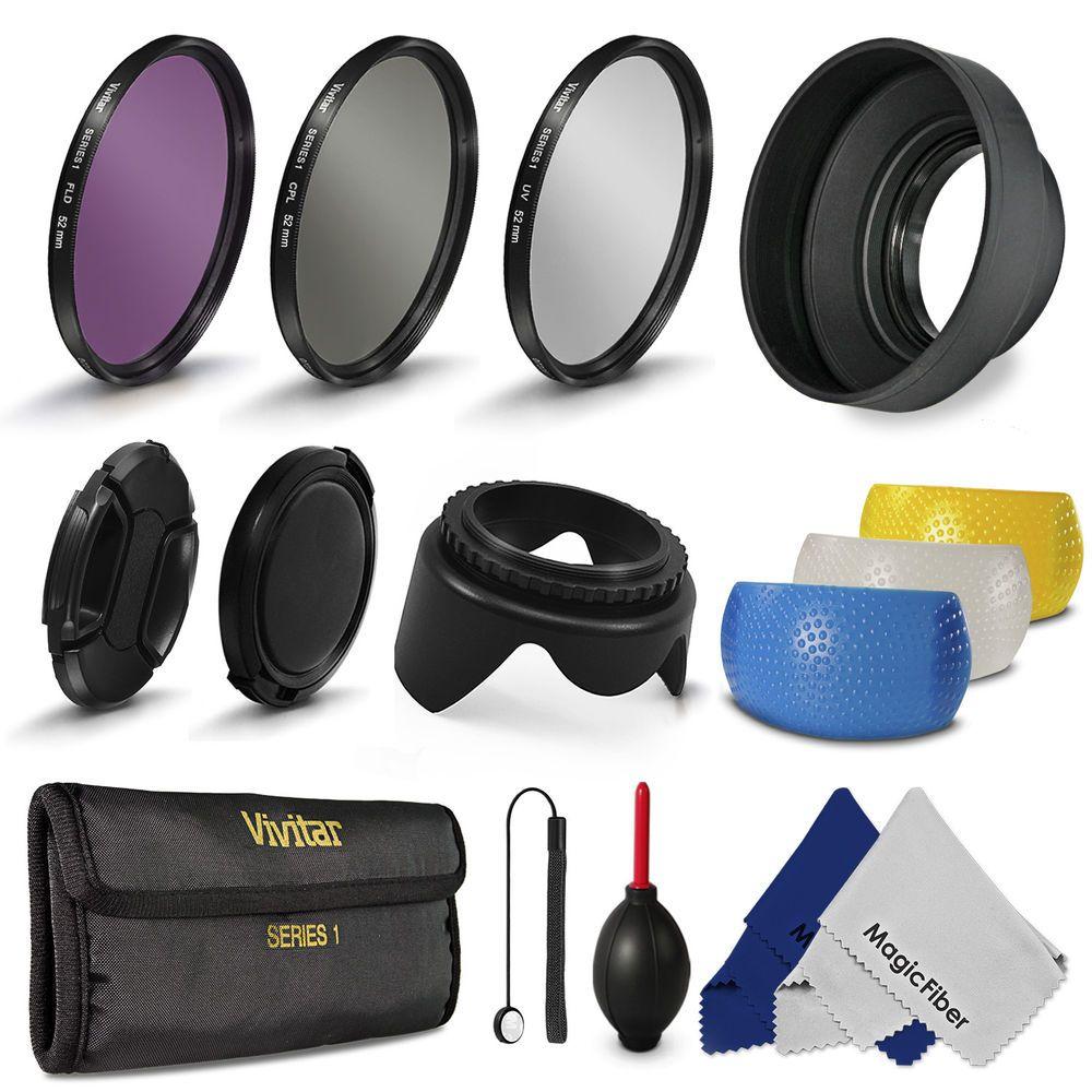 52MM UV CPL Filter Lens Hood & Cap for Nikon D3200 D3100 D5200 D5100 D90 18-55mm #SynergySales