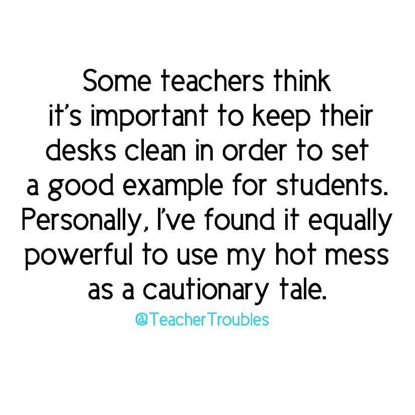 I M Setting An Example Teaching Humor Teacher Humor Teacher Memes