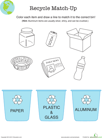 Recycle Worksheet | Groups poster, Worksheets and Memory books