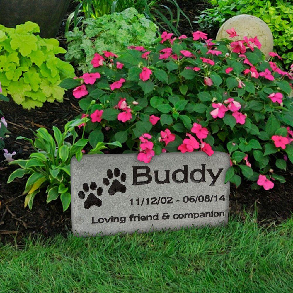 Pet Grave Marker Custom Engraved Stone - Medium | pet memorial ideas ...
