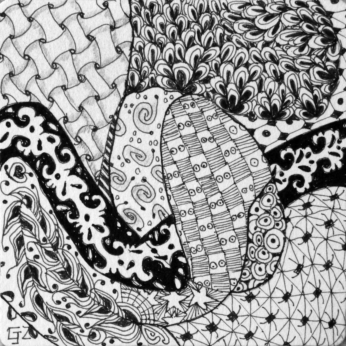 Gloria J Zucaro Blind String Pen And Ink Design