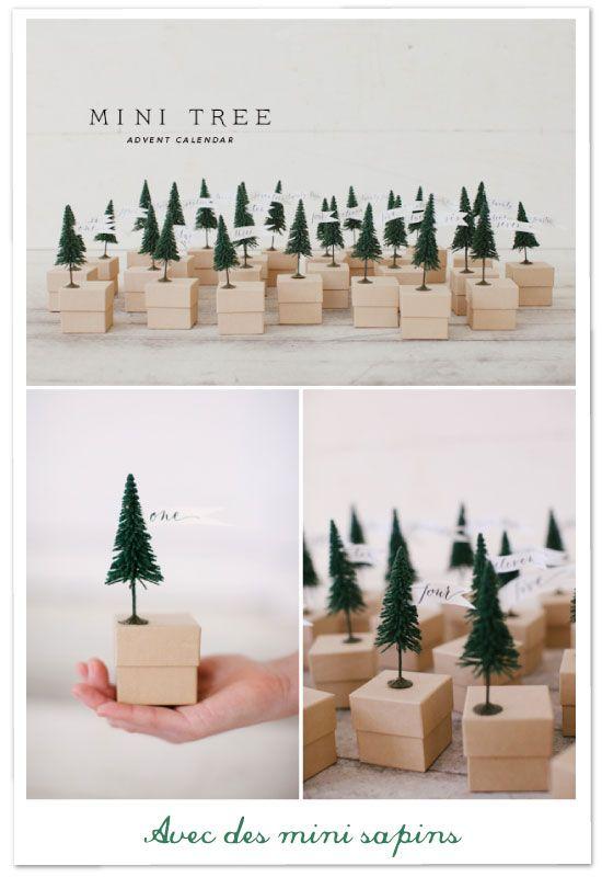 Mini sapins de no l mini trees diy round up noel pinterest mini sapin - Sapin de noel pinterest ...