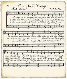 Vintage Sheet Music For Christmas Crafts Away In A Manger Christmas Sheet Music Free Christmas Printables Christmas Music