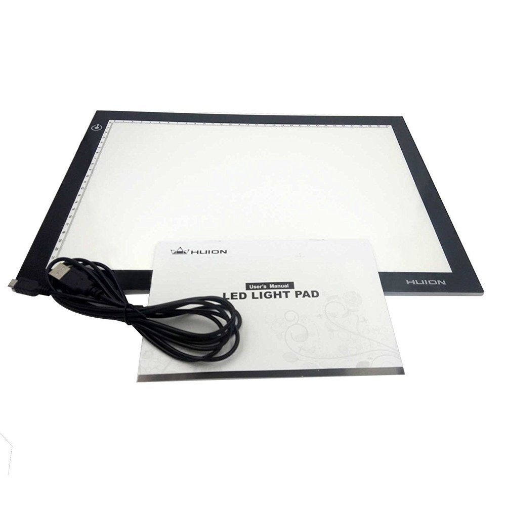 Huion L4s 17 7 Ultra Thin 5mm Led Light Box Pad Tracing Board Table For Drawing Stencil Tattoo Drawing Stencils Led Light Box Light Board