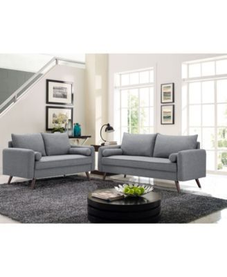 Outstanding Carmel 59 Loveseat Products In 2019 Sofa Modern Grey Theyellowbook Wood Chair Design Ideas Theyellowbookinfo