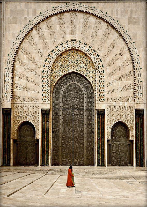 Door of Hassan II Mosque Casablanca Morocco & Casablanca. The Hassan II Mosque in Casablanca is the 7th largest ... pezcame.com