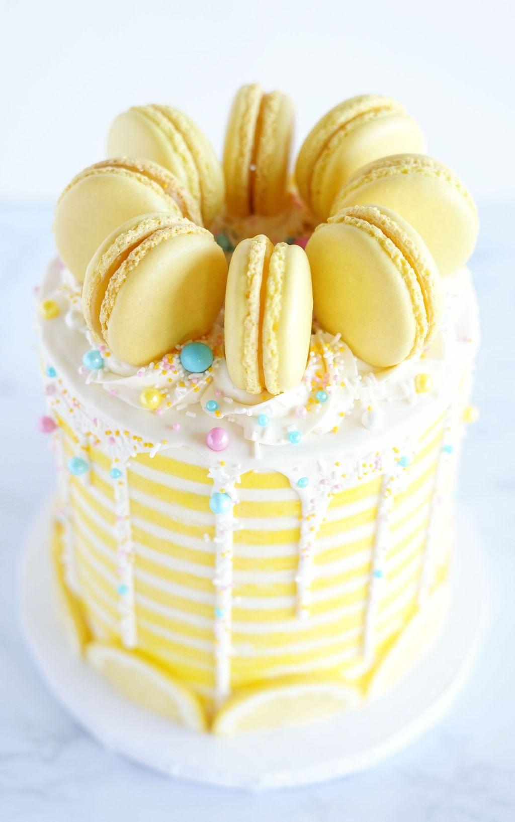 Tremendous Lemon Cake Recipe With Images Lemon Layer Cakes Lemon Personalised Birthday Cards Beptaeletsinfo