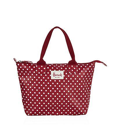 Harrods Polka Dot Grab Bag   Harrods