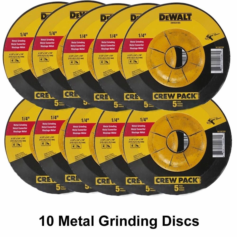 Grinder Wheels And Accessories 79703 10 Dewalt 4 1 2 X 1 4 X 7 8 Metal Grinding Wheels Dw4541 Dw4514 Free Shipping Buy It Now On Metal Grinding Dewalt Ebay
