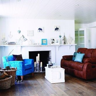 Looking for living room ideas? Over 100 oh-so-stylish designs to inspire: Think Turquoise
