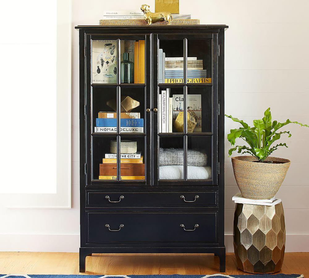 Bronson Bookcase Black Furniture Bookcases