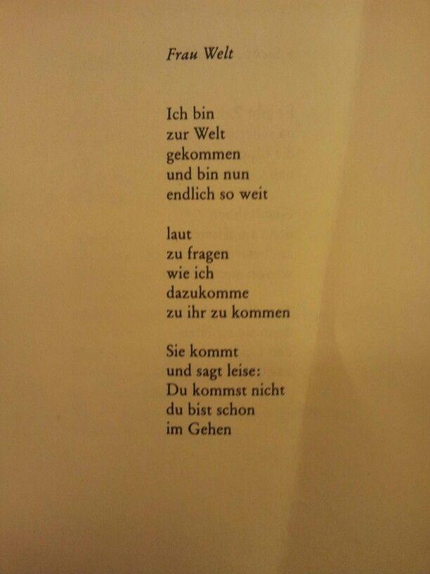 Frau Welt By Erich Fried Poem German Deutsche Gedichte