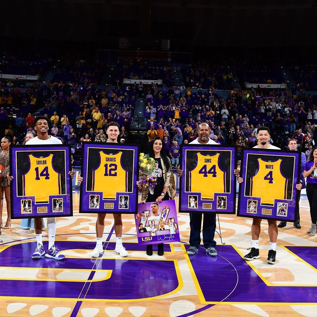 Lsu Basketball On Instagram Taylor Graves Sims Mays Foreverlsu Forever44 In 2020 Lsu Basketball Sims