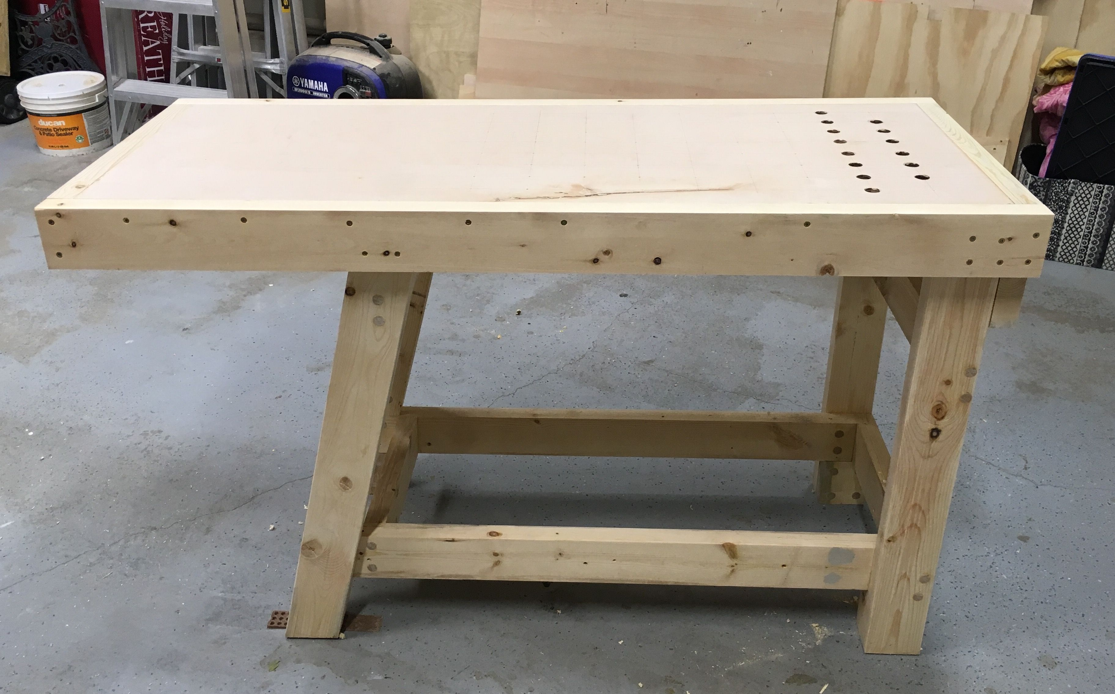 Enjoyable Woodworking Workbench Front Legs Are At A 30 Degree Angle Andrewgaddart Wooden Chair Designs For Living Room Andrewgaddartcom