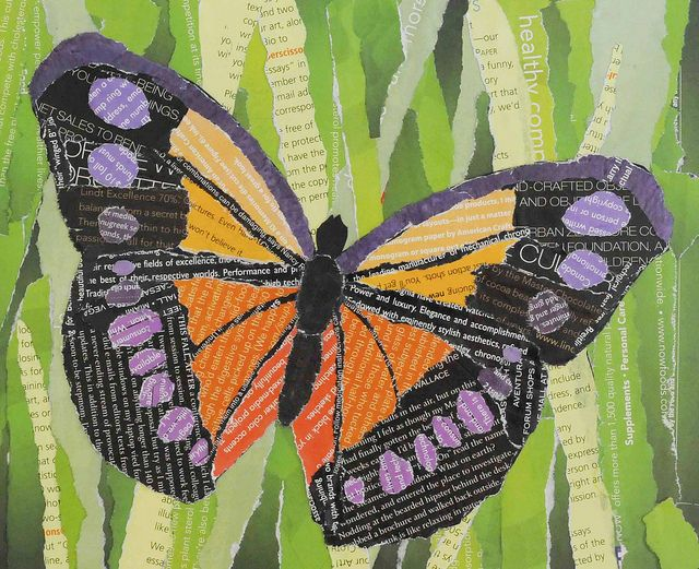 Butterfly Collage 1 With Images Collage Art Projects