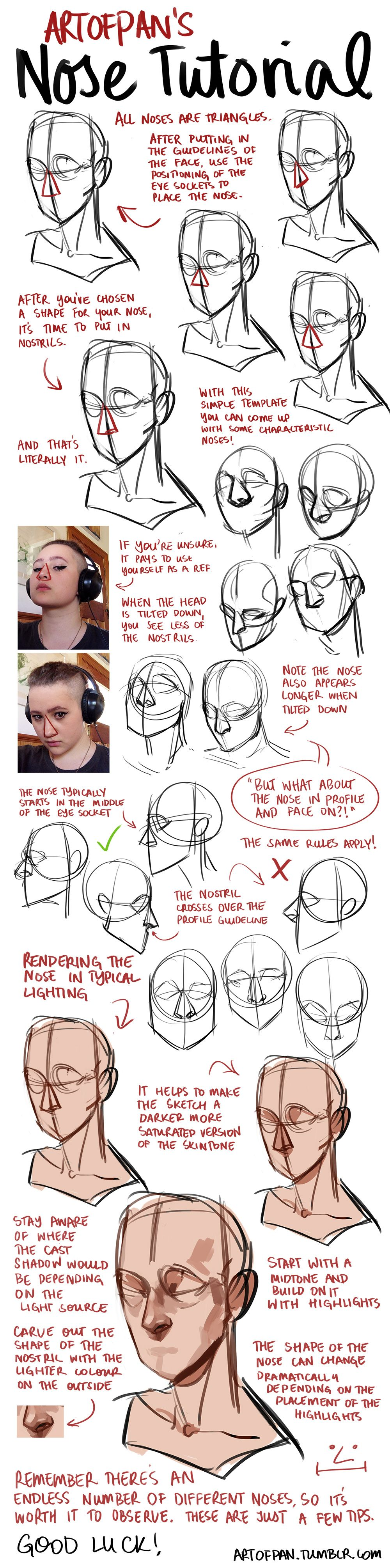 how to draw noses deviantart