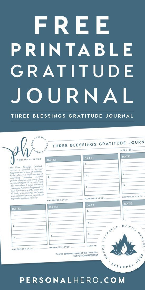 Three Blessings Journal Page Download Gratitude, Abundance and