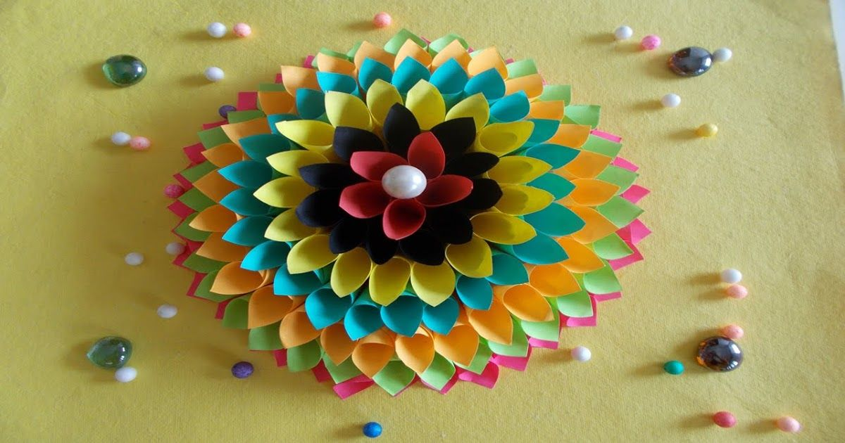 How to Make Wall Decoration with Paper | crazzycraft | Pinterest ...