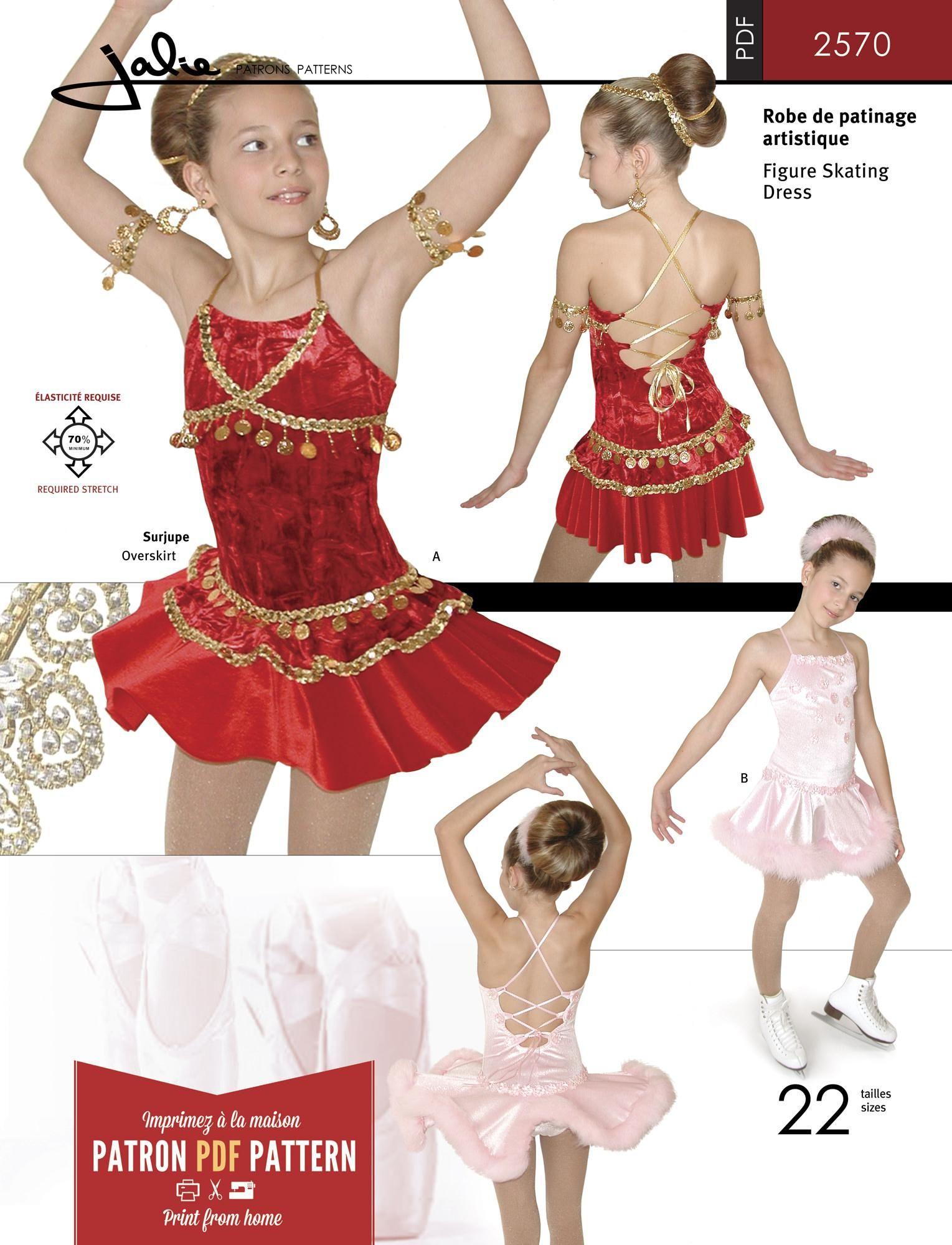 Jalie 2570 - Lace-Up Skating Dress PDF Pattern | PDF Patterns ...