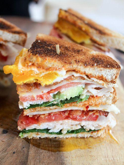 Triple Decker Club Sandwich #yummy #food