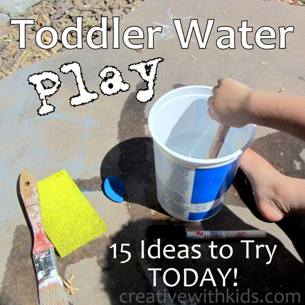 You don't need lots of fancy toys or a water table to enjoy water play with your toddler.  Grab these ordinary household items and have fun.