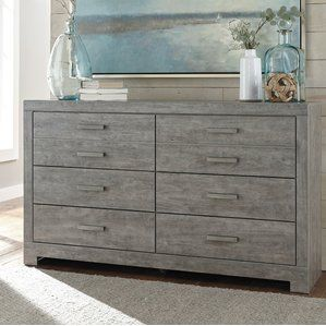 Culverbach 6 Drawer Dresser Weathered Driftwood Finish Evokes Such An Ethereal Vibe Exactly What You Need For Your Serene Master Suite