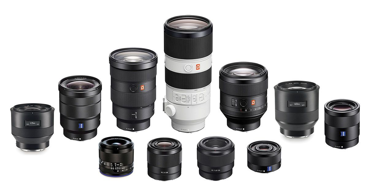 Here\'s a round-up of all the fullframe E-Mount FE lenses for Sony a7 ...