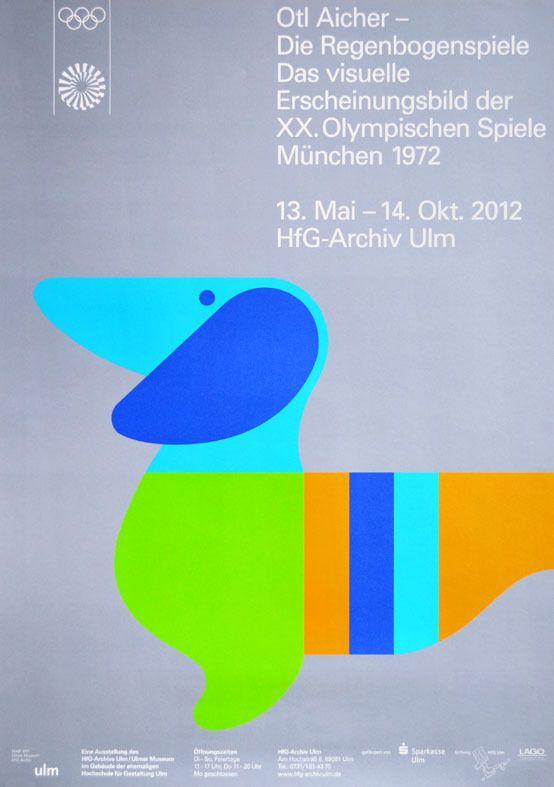 Olympische Spiele 1972 Munchen Ausstellungsplakat Regenbogenspiele Olympiade