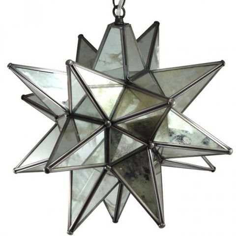 Moravian antique mirrored glass star light antique mirror glass moravian antique mirrored glass star light mozeypictures Choice Image