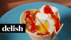 Muffin Tin Huevos Rancheros | Delish