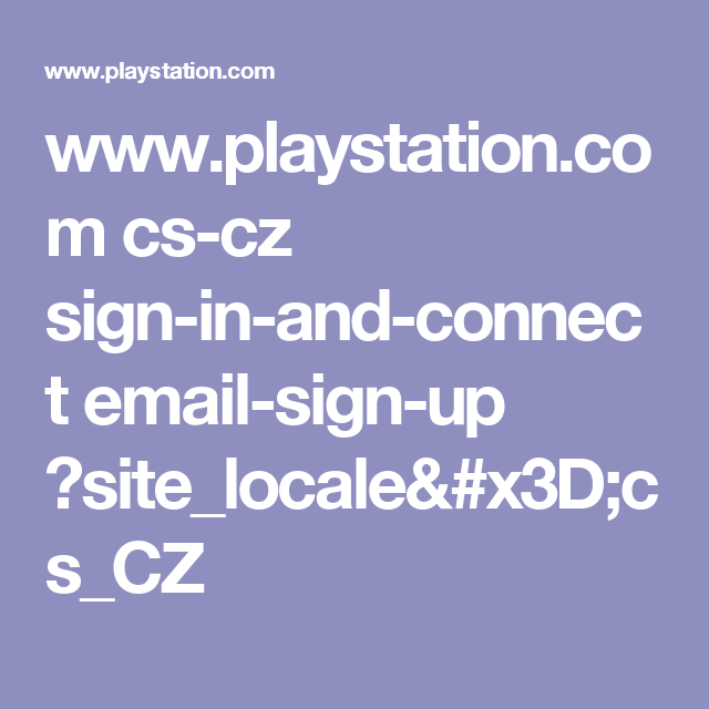 play station sign in