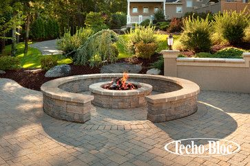 Outdoor Living - Valencia Fire Pit by Techo-Bloc - traditional - exterior - Techo-Bloc