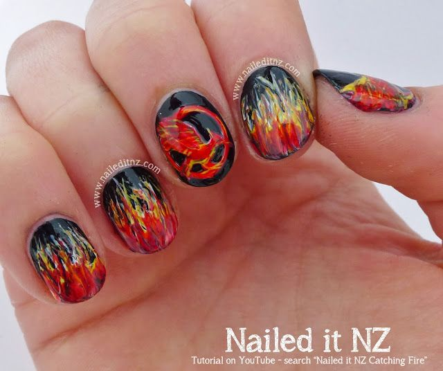 Nailed It Nz Catching Fire Nail Art Quotes Tutorial Nail Art