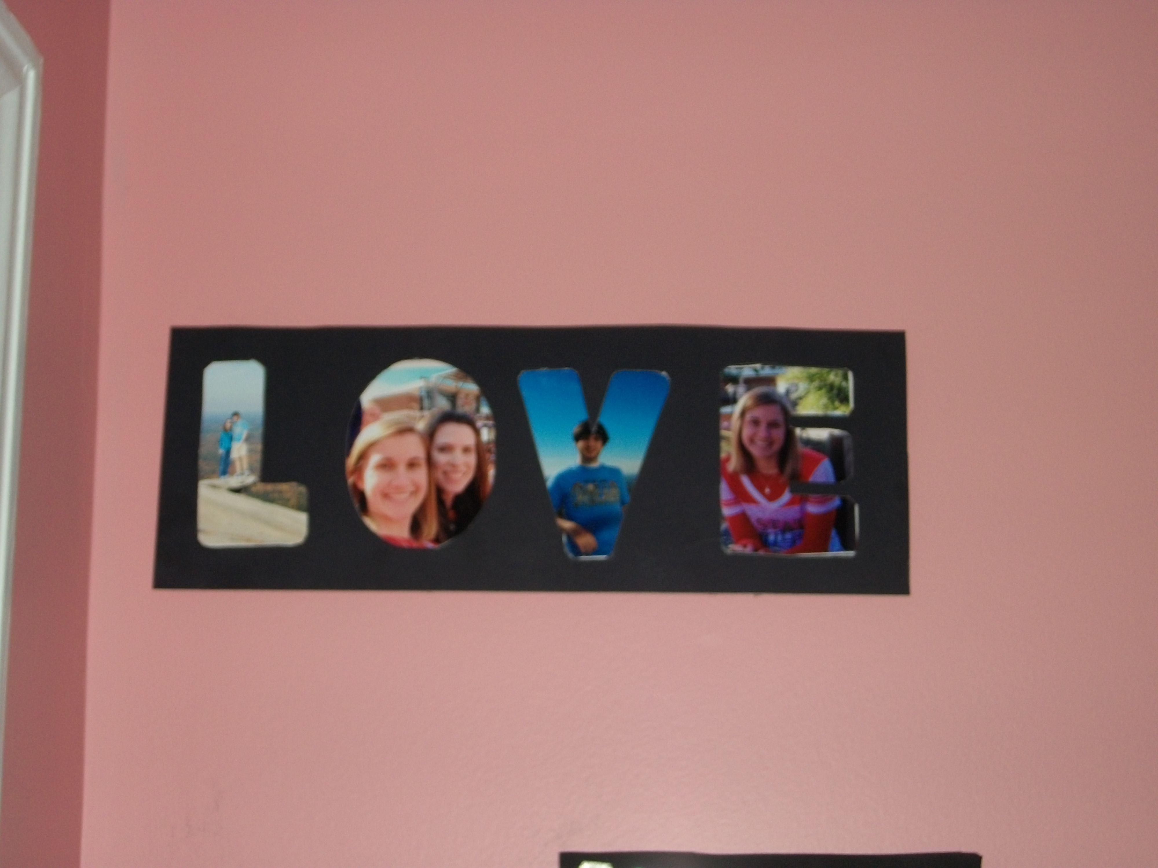 frame made using black poster board