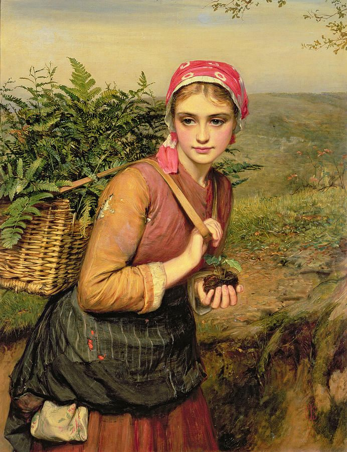 The Fern Gatherer, Charles Sillem Lidderdale (1831 – 1895, English)
