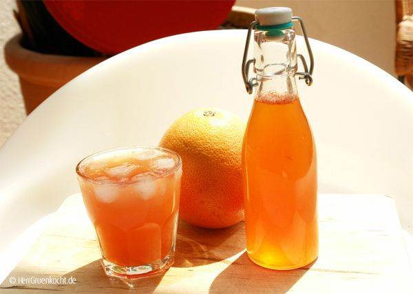 grapefruitsirup ganz einfach selber machen syrup gelee and diy food. Black Bedroom Furniture Sets. Home Design Ideas