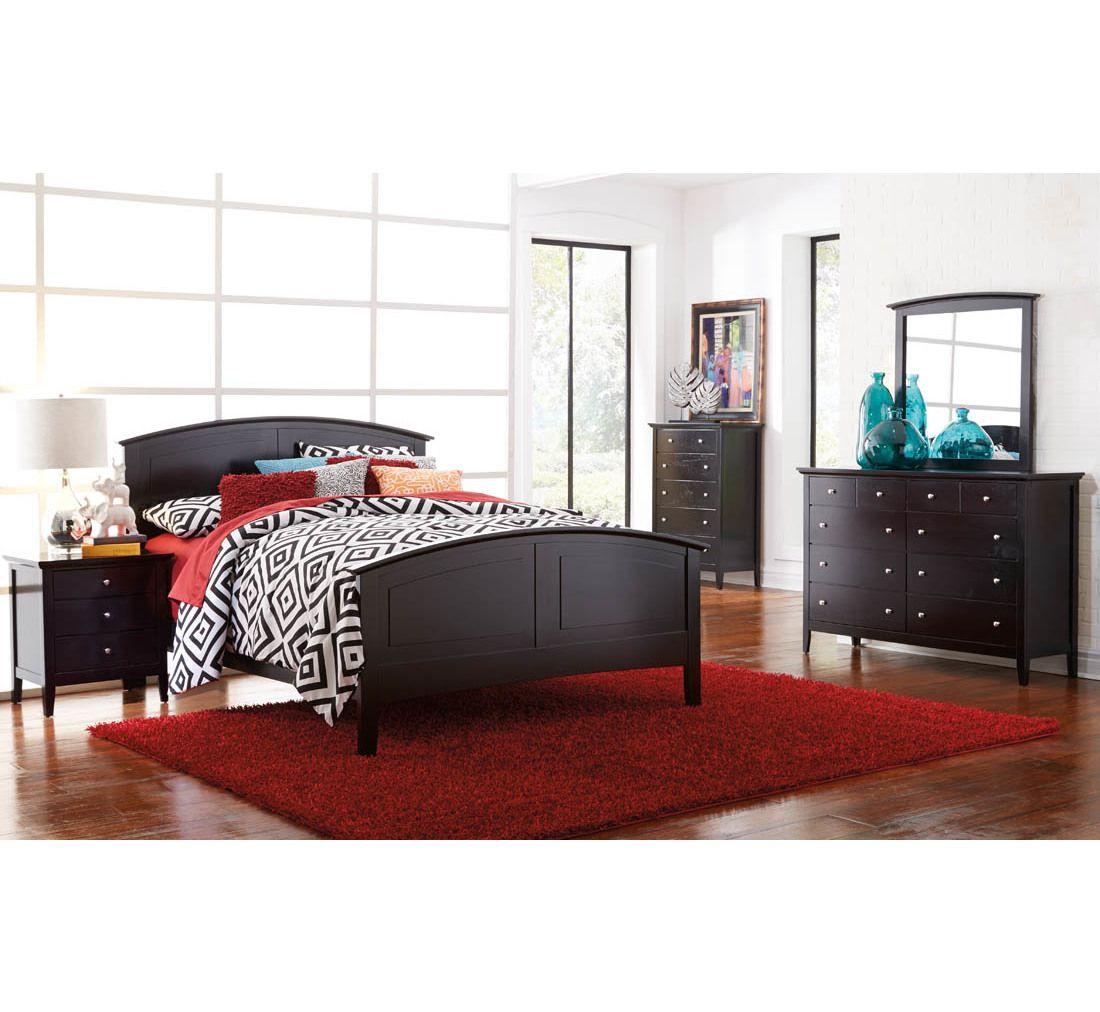 Metalindo Ii Black 5 Pc Queen Bedroom Group Badcock More King