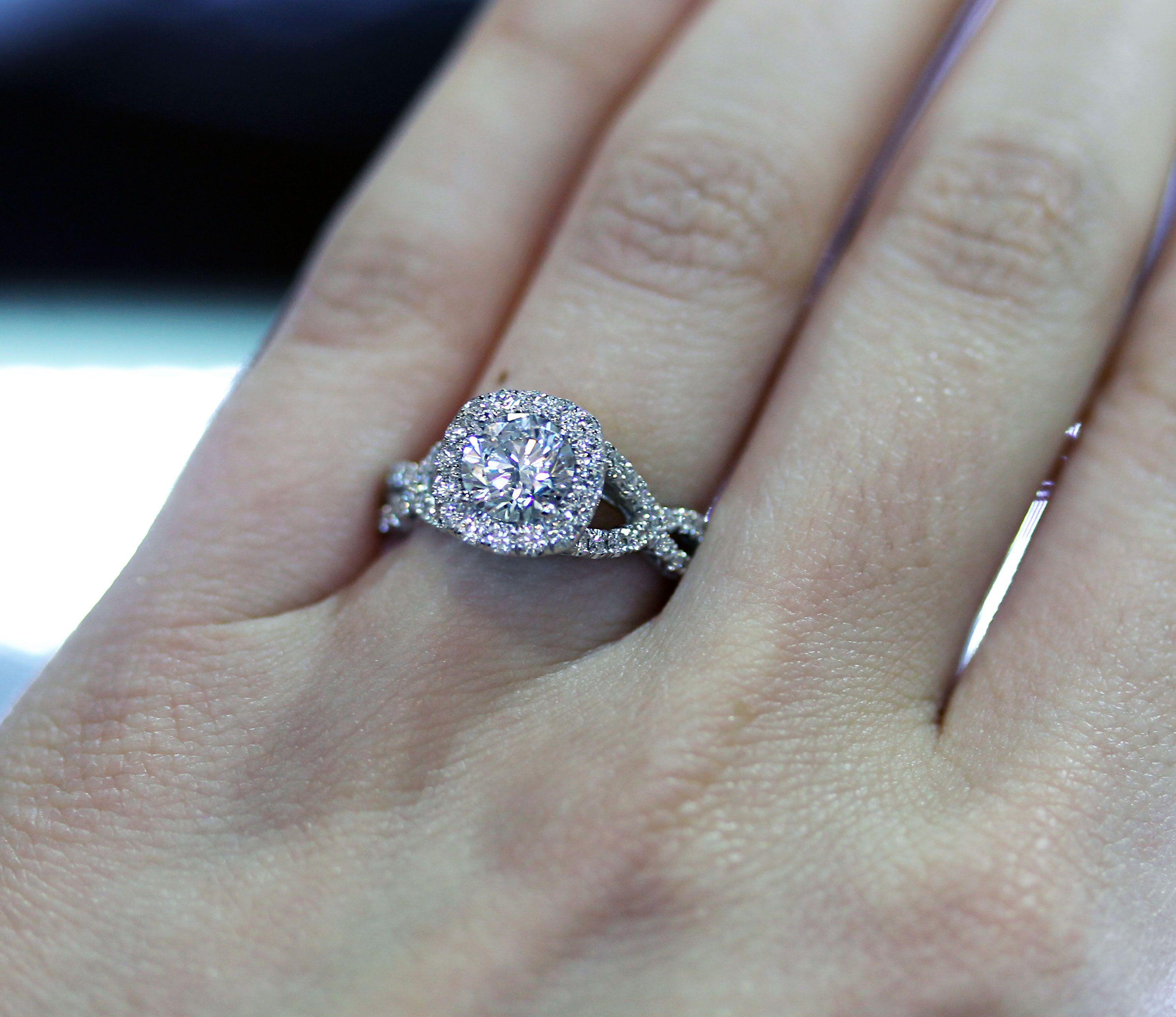 Tacori Engagement Rings Petite Crescent Ribbon Halo