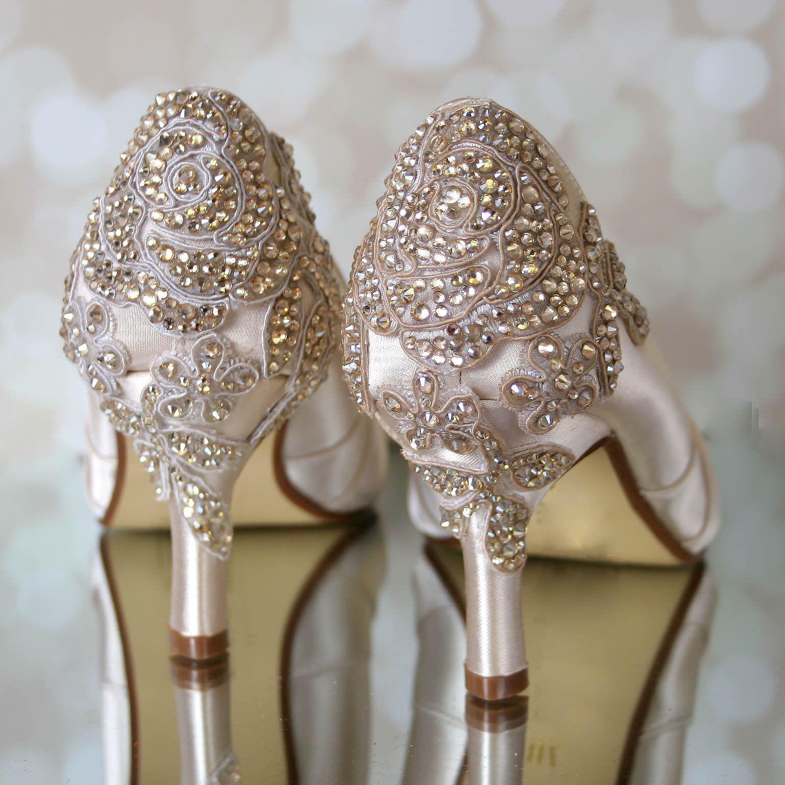 28eb85e2cfe Wedding Shoes Champagne Wedding Shoes Vintage Wedding Shoes | Etsy ...