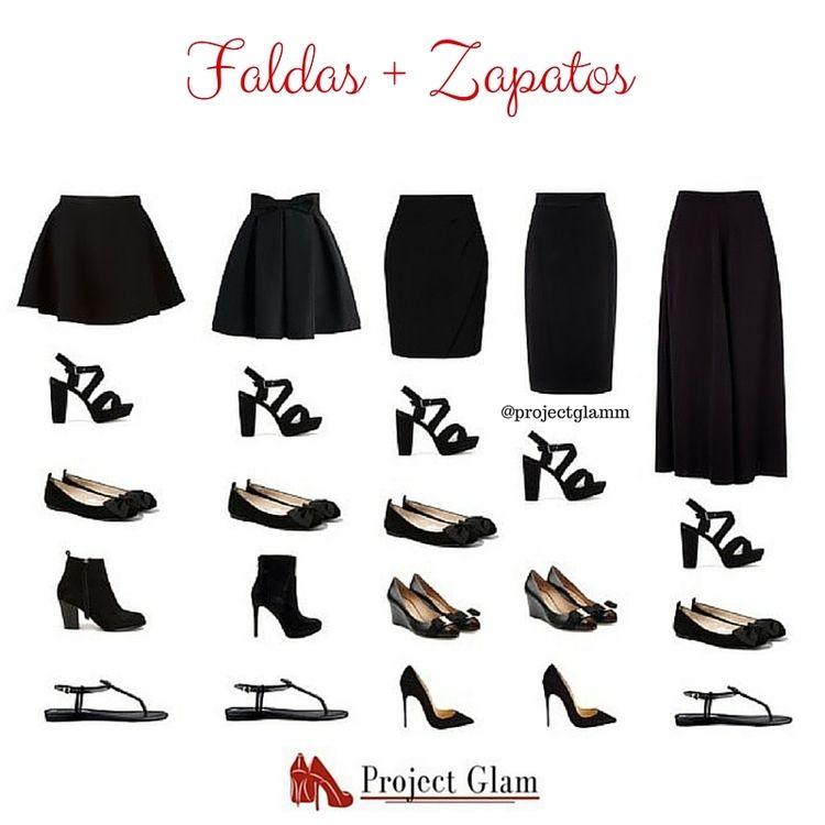 855b384e8 Consejos para combinar faldas con zapatos — Project Glam   tipos ...